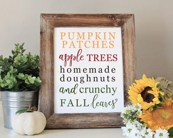 Fall Printable Art, Fall Subway Art, Pumpkin Patches Printable, Rustic Fall Home decor, Calligraphy print, Art Print Instant Download
