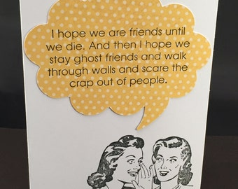 Ghost Friends funny card