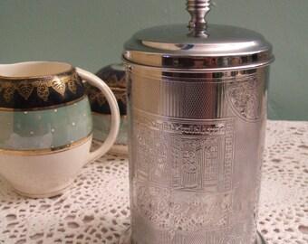 Vintage Jam Pot - Vintage Preserves Pot - Chrome Jam Pot - Jam Pot - Marmalade Pot - 1940s - 1950s - Vintage Afternoon Tea - Afternoon Tea