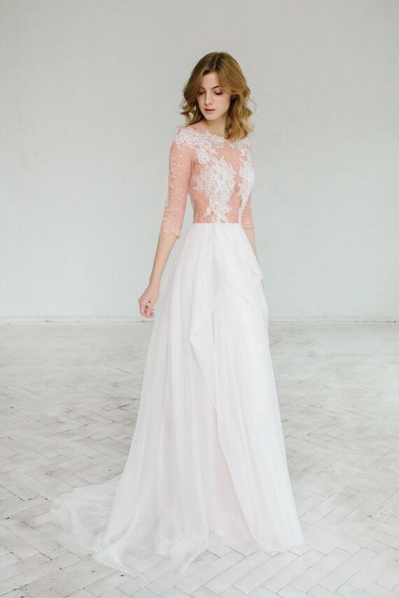 Blush Wedding Dress Tustin : Blush wedding dress rosy iris