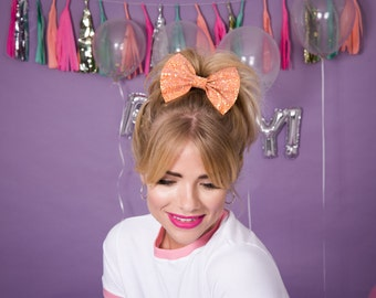 Glitter hair bows, glitter bow, glitter hair accessory, retro bow, sparkly hair bow, glitter hair bow, pin up bow, cute bow, party bow