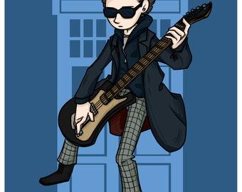 Doctor Who - Twelfth Doctor - Guitar hero - Fanart print