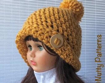 Crochet Pattern * Ellen Hat * Slouchy beanie * Instant Download Pattern #505 * Newborn Baby Toddler Child Teen Adult * bulky * easy * pdf