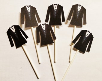 12 ct Tuxedo Cupcake Toppers