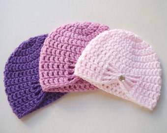 Newborn girl hat Crochet baby Hat New born Girl baby outfit Newborn girl beanie Baby girl hat Infant hat New born girl Coming home outfit