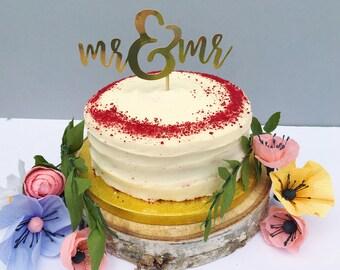 Gay cake topper Etsy
