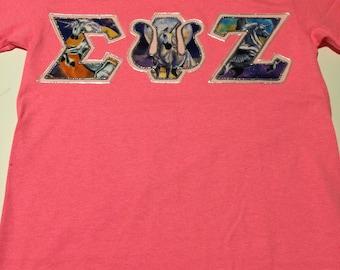 CUSTOM Greek Letter Shirt (Sigma Psi Zeta)