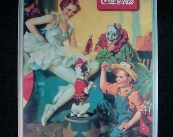 Vintage 1990 Coca Cola Tin Advertising Sign, Coca cola Sign, Coca Cola Wall Hanging, Vintage Coke Sign, Coca Cola Collectible, Coke Sign