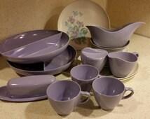 19 Piece Royalon Inc. Purple Melmac- Corsage Pattern