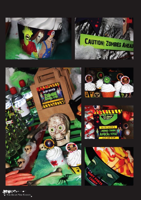 ZOMBIE Apocalypse - Halloween - Walking - Dead - Horror - Full Package - Adult - Party - 21st - 30th - Birthday - PRINTABLE - Pdf