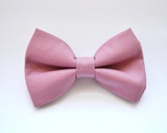 Rose Pink bow tie, boys bow tie,baby bow tie,adult bow tie,groomsmen bow tie, Mauve bow tie, wedding bow tie