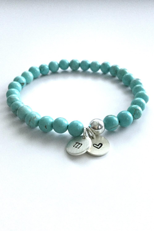 personalized women 39 s bracelet silver initial charm. Black Bedroom Furniture Sets. Home Design Ideas