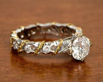 Vintage Buccellati Engagement Ring - Estate Diamond Jewelry Collection - Mario Buccellati