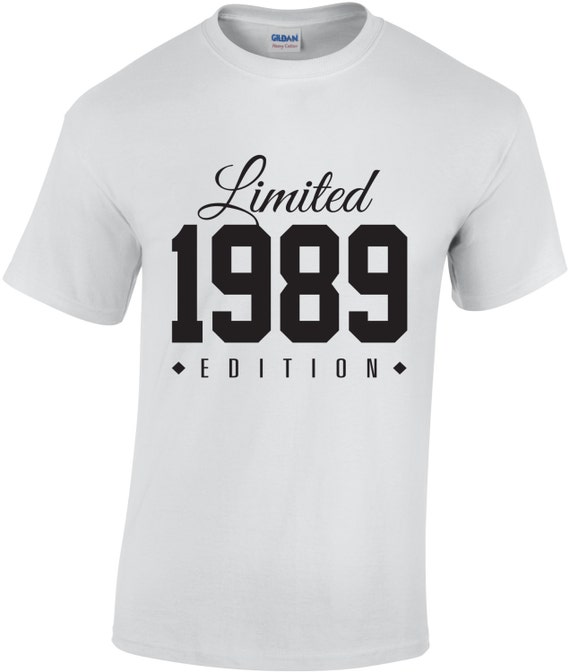 62b8afd9c ... T 27 Birthday Shirt: 1989 Limited Edition 27th Birthday Party Shirt  Turning 27