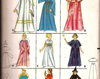 Vintage Girl Costume Pattern / Angel, Magician, Statue of Liberty, Grecian, Witch, Fairy / Butterick 3238 / Size 10-12 / UNCUT