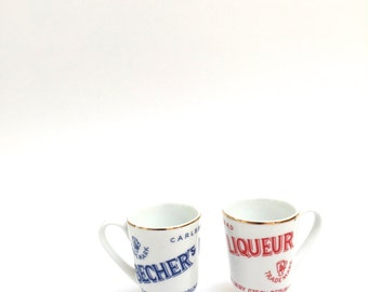 Instant Collection Becher's Liqueur Porcelain Shot Glass Advertising Cup