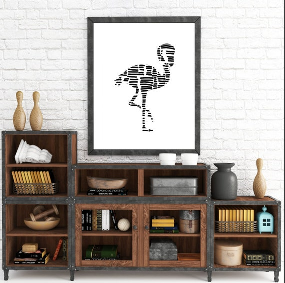 Flamingo Artwork, Tribal, Flamingo, Printable Flamingos, Digital Prints, Tribal Animals, Printable Decor, Instant Download, Printable Art