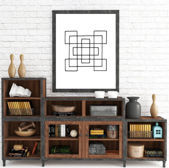 Digital Print, Mid Century Art, Downloadable Art, Modern Wall Art, Geometric Printable, Print Download, Home Printables, Scandinavian Poster