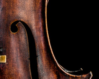 Cello f-hole photography, color