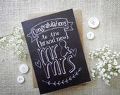 Mr & Mrs - Wedding card -...