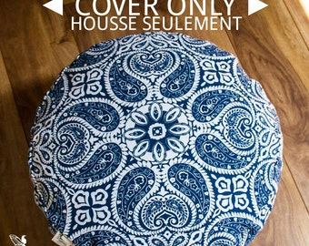 COVER ONLY Meditation cushion zafu pouf with lining Choose your fabric (No filling included) yoga accessories by Creations Mariposa Zen