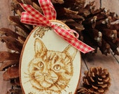 Tabby Cat Christmas Ornament or Gift.