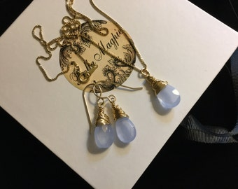 Lavender Chalcedony Set