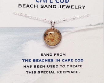 Cape Cod Beach Sand Jewelry,Cape Cod Sand Jewelry, Beach Sand Jewelry, Sand Jewelry, Nautical, Summer, One of a Kind Gift, Made in Maine