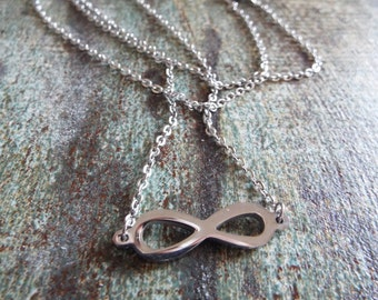Infinity Symbol Pendant Stainless Steel Handmade Necklace Gothic Jewelry