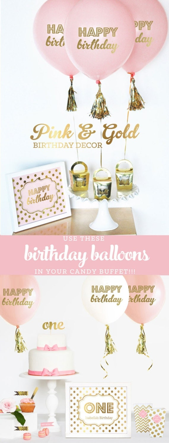 Gold Birthday Decorations Pink And Gold Birthday Decorations Pink And Gold First