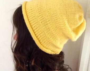 Yellow Slouchy Beanie