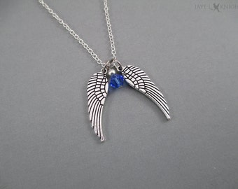 Daryl Dixon Wings Charm Necklace - The Walking Dead - Silver Charms