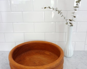 Vintage Danish Kalmar Teak wood Serving Bowl