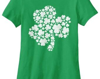 Patterned Shamrock for St Patricks Day Women's T-shirt