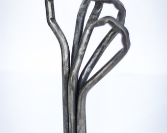 Hand forged hand sculpture