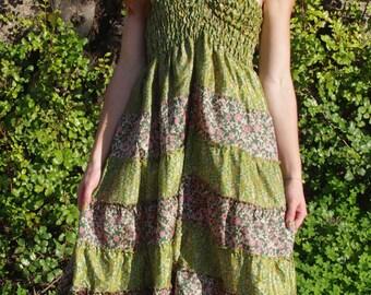 Bohemian Skirt Gypsy Skirt Faerie Clothing Burning Man Hippie Skirt Summer Dress Tunic Tops Tunic Dress Elven Clothing Dresses For Women