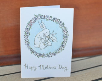 "Happy Mothers Day Card ""Bunny Love"""