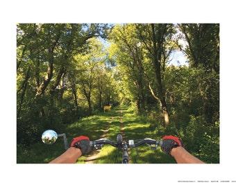 Trail Ride Encounter (Summer), 24 x 18 Art Print