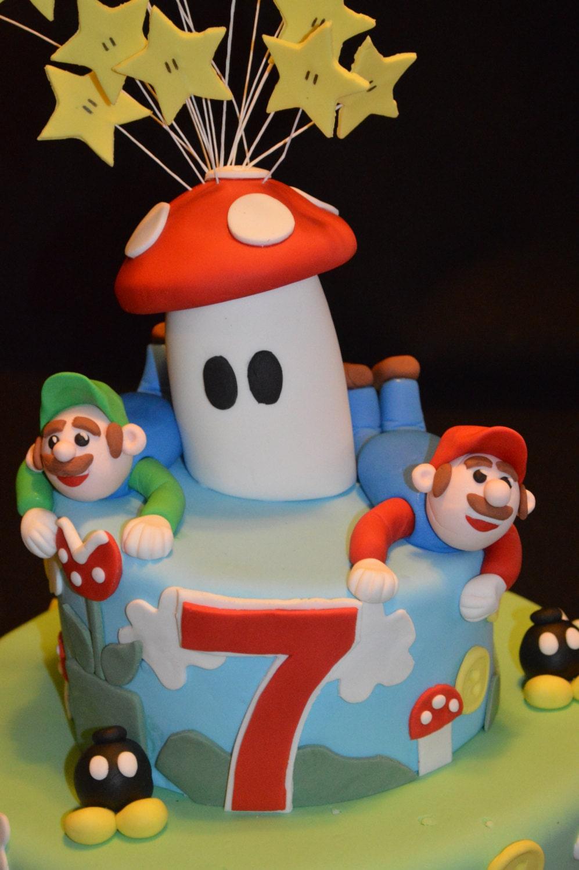 Mario Cake Decorating Kit : Fondant Mario Brothers Cake Topper Decorating Kit Mario