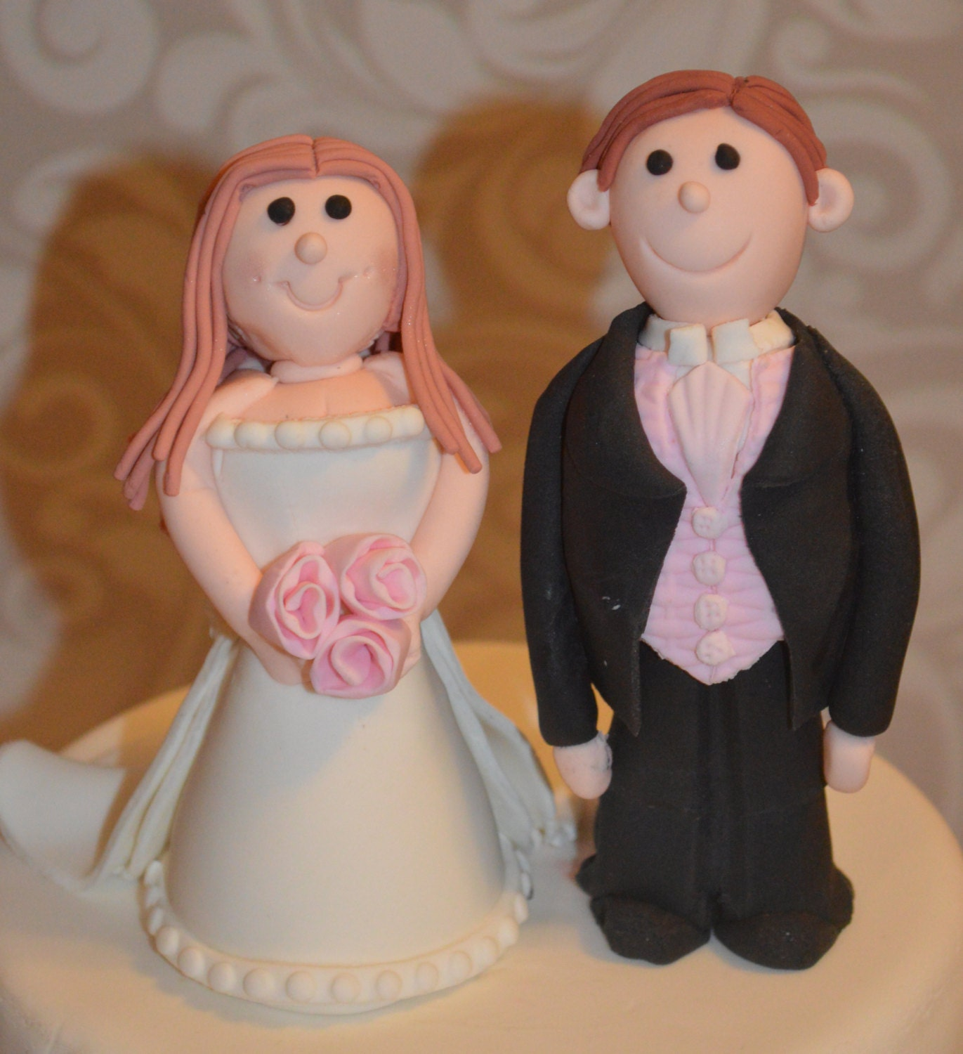 Make Your Own Wedding Topper: Custom Fondant Bride And Groom Wedding Cake Topper This Topper