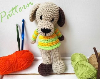Amigurumi Crochet In The Round : Dog - pdf knitting pattern. Knitted in the round. from ...