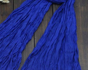 Wrinkled scarf, Palin scarf, Crinkled Fabric