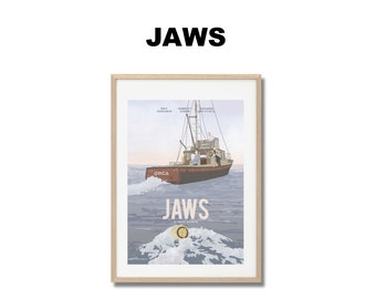 Jaws - Print - Poster Steven Spielberg A3
