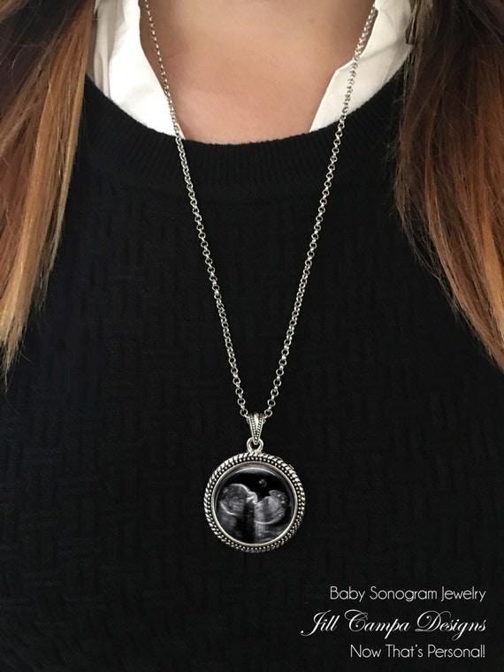 Sonogram Necklace Sonogram Jewelry Your baby's sonogram