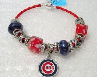 1050 - NEW - Chicago Cubs Bracelet
