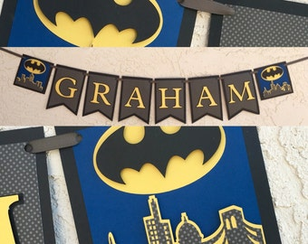 Batman banner, Batman Birthday Party Banner, batman party decorations, Batman Birthday decorations