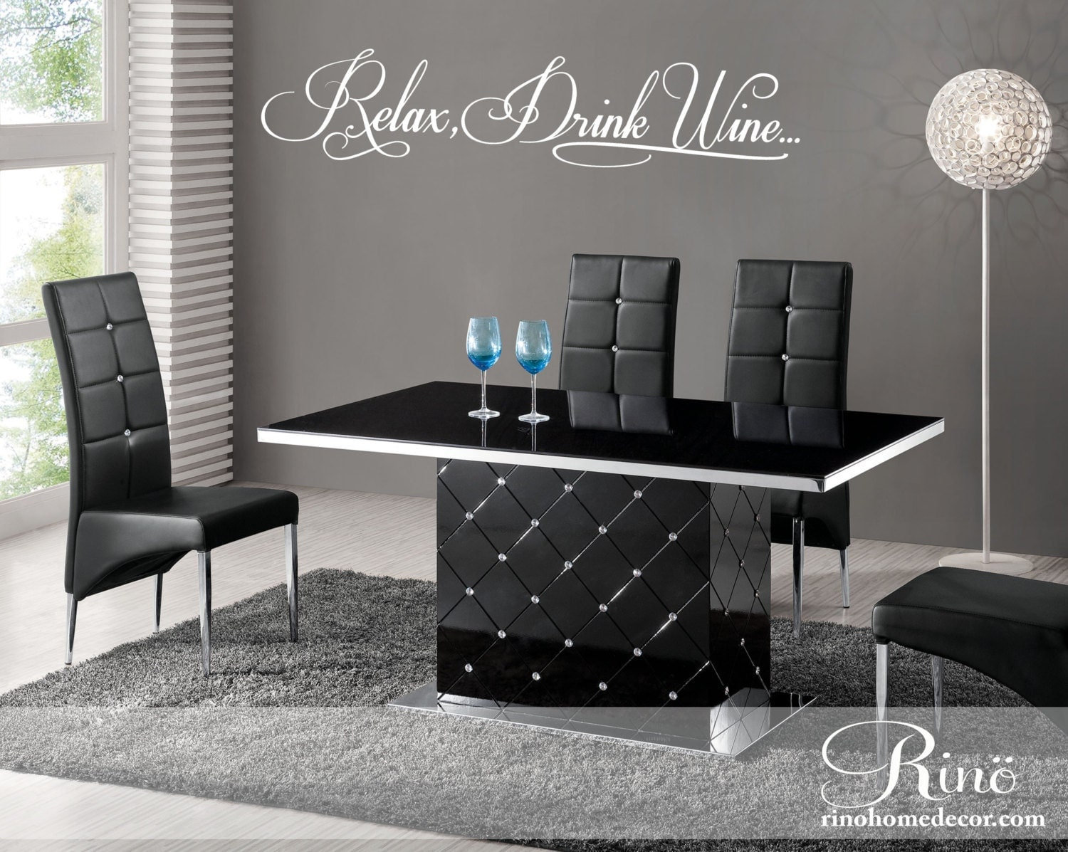 Relax Drink Wine Kitchen Wall Decal