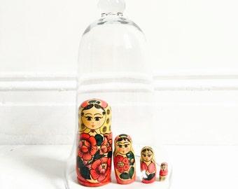 Vtg Russian Nesting Dolls : Matryoshka Doll