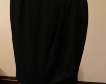 Vintage Black YSL Skirt