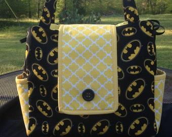 Batman Diaper Bag - Made to Order - Superhero, Superman, Marvel, Bat Man, Super Man, Super Hero, Monogram available